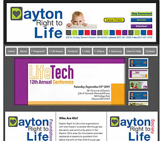 Dayton Right to Life website design