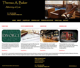 Theresa A. Baker, Attorney at Law - Dayton, OH website design