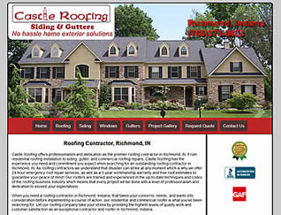 Castle Roofing - Richmond, Indiana  website design