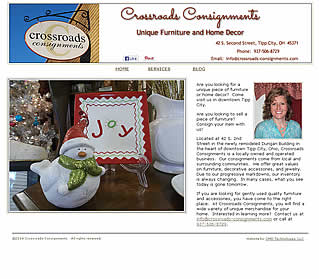 Crossroads Consignments - Tipp City, OH website design  45371