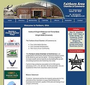 Fairborn Chamber of Commerce - Fairborn, OH website design