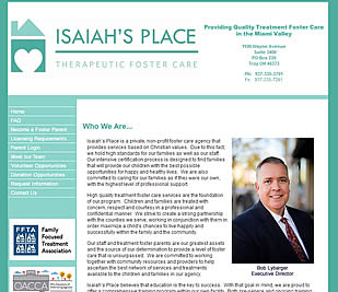 Isaiah's Place - Troy, Ohio website design 45373