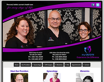 My OB/GYN Ohio - Massillon and Orrville, OH  website design