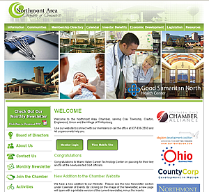 Northmont Chamber of Commerce - Englewood, OH website design 45322