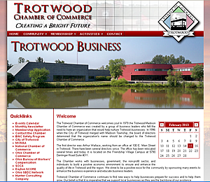 Trotwood Chamber of Commerce - Trotwood, OH  website design 45426